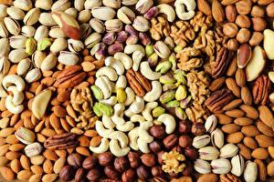 Картинка Орехи Текстура Продукты питания Еда