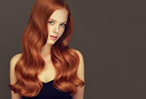Обои Рыжая Волосы Взгляд