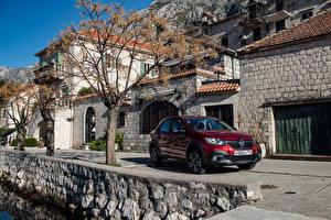 Картинки Рено Бордовый 2018-19 Logan Stepway City Автомобили