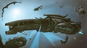 Фотографии Звездолёт Корабль by Dmitrii Ustinov, Exploratory spacecraft Coraggioso Фантастика