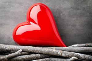 Картинки День святого Валентина Ветка Серце Красная