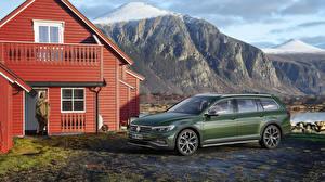 Фото Фольксваген Зеленый Металлик 2019 Passat Alltrack Worldwide Авто