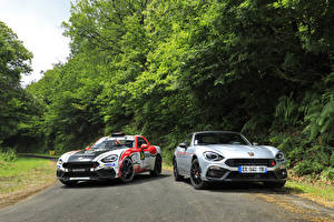 Фотография Abarth Fiat Тюнинг Двое 124 Автомобили