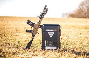 Обои Автоматы Трава AR15 Армия
