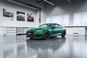 Картинка Ауди Купе Зеленый 2018 ABT RS 5-R Автомобили