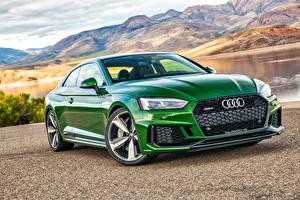 Обои Audi Зеленый Купе Coupe RS 5 Автомобили картинки