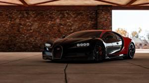 Обои BUGATTI Черный Chiron, Forza Horizon 4 Игры Автомобили 3D_Графика картинки