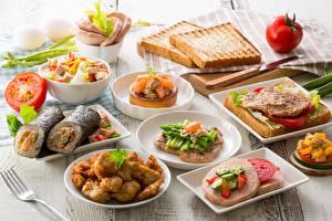 Фото Хлеб Бутерброд Овощи Завтрак