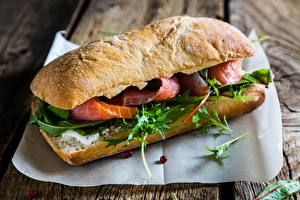 Обои Крупным планом Сэндвич Рыба