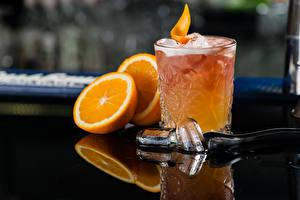 Обои Коктейль Алкогольные напитки Апельсин Стакане Лед Еда