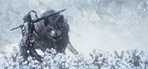 Фотография Dark Souls III Волк Рыцарь Доспехах Игры 3D_Графика