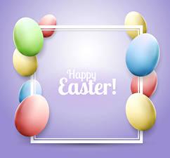 Фото Пасха Цветной фон Яйца Разноцветные Английский