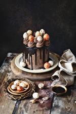 Картинка Пасха Сладкая еда Торты Шоколад Яйцо