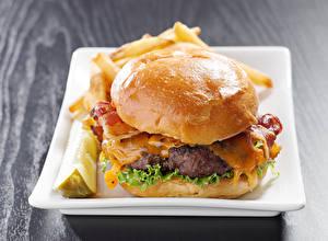Картинка Быстрое питание Гамбургер Булочки