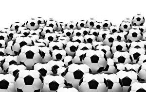 Фотография Футбол Много Белый фон Мяч спортивные
