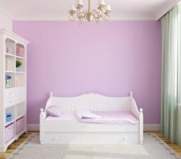 Картинки Интерьер Детская комната Дизайна Кровати