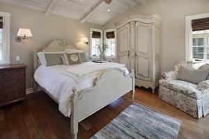 Фотография Интерьер Дизайн Спальня Кровать Кресло Лампа