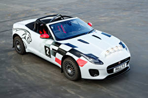 Обои Jaguar Стайлинг Кабриолет Белых 2018 F-Type Convertible Rally машины