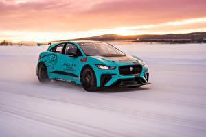 Обои Jaguar Тюнинг Движение 2019 I-Pace eTrophy Prototype авто