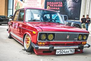 Обои Лада Российские авто Стайлинг Красная 2106 Автомобили