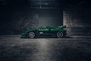 Картинки McLaren Сбоку Зеленый 2018 MSO Senna