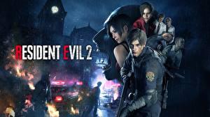 Картинка Мужчины Resident Evil 2 2019 Leon S. Kennedy Игры