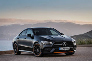 Обои Мерседес бенц Синий 2019 CLA 250 AMG Line Edition Orange Art Worldwide Автомобили