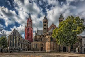 Фото Нидерланды Храмы Церковь HDR Maastricht