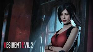Картинки Resident Evil 2 2019 Ada Wong Брюнетка Смотрит