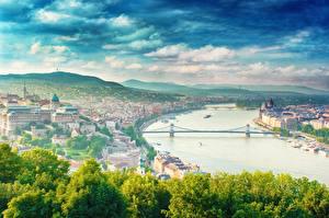 Обои Речка Мосты Венгрия Будапешт dunai Города