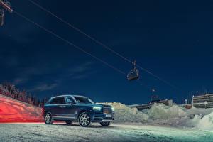 Обои Rolls-Royce Синий 2018-19 Cullinan Автомобили картинки