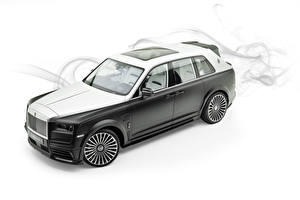 Обои Rolls-Royce Белый фон 2019 Mansory Billionaire Автомобили картинки