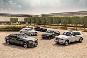 Обои Rolls-Royce Ghost, Dawn, Wraith, Phantom, Cullinan Автомобили картинки
