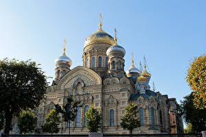 Обои Россия Санкт-Петербург Храмы Церковь Города картинки