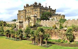 Обои Шотландия Замки Ограда Пальмы Culzean castle