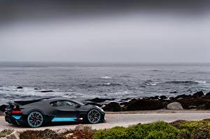 Фотография Море BUGATTI Черный Автомобили