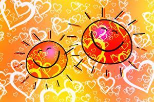 Картинки Солнце Сердечко Улыбка Счастье