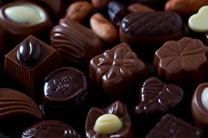 Фотография Сладкая еда Конфеты Шоколад Крупным планом Продукты питания