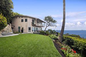Фото Штаты Здания Особняк Дизайн Газон Laguna Beach Города