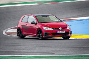Обои Volkswagen Красный 2019 Golf GTI TCR 3-door Worldwide авто