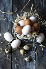 Картинка Доски Солома Яйца Еда