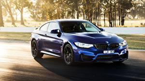 Картинки БМВ Синий 2018 M4 CS Автомобили