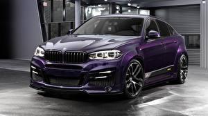 Обои BMW Тюнинг Фиолетовая CUV CLR Lumma Design X6R Автомобили