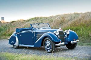 Обои BUGATTI Винтаж Голубой Кабриолета 1937 Type 57 Stelvio Cabriolet by Gangloff машина