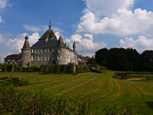 Фотография Бельгия Замки Газон Hodoumont Castle Города