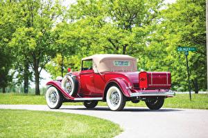 Картинка Бьюик Винтаж Купе Красная Вид сзади 1932 Series 90 Convertible Coupe авто