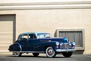 Фотографии Cadillac Ретро Синих 1941 Fleetwood Sixty Special Sedan