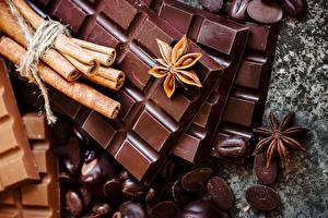 Обои Шоколад Корица Бадьян звезда аниса Шоколадка