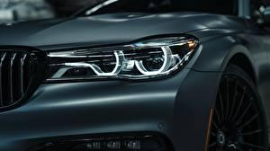 Фото Крупным планом BMW Фары 2018 7-Series Bi-Turbo Exclusive Edition Alpina B7 Машины