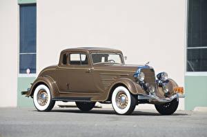 Обои для рабочего стола Додж Ретро Коричневые Купе 1934 Deluxe Rumble Seat Coupe автомобиль